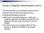 group c eligibility determination con t