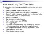 institutional long term care con t28