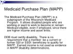 medicaid purchase plan mapp