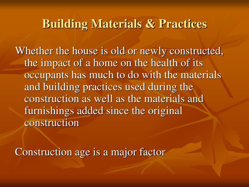 Building Materials & Practices
