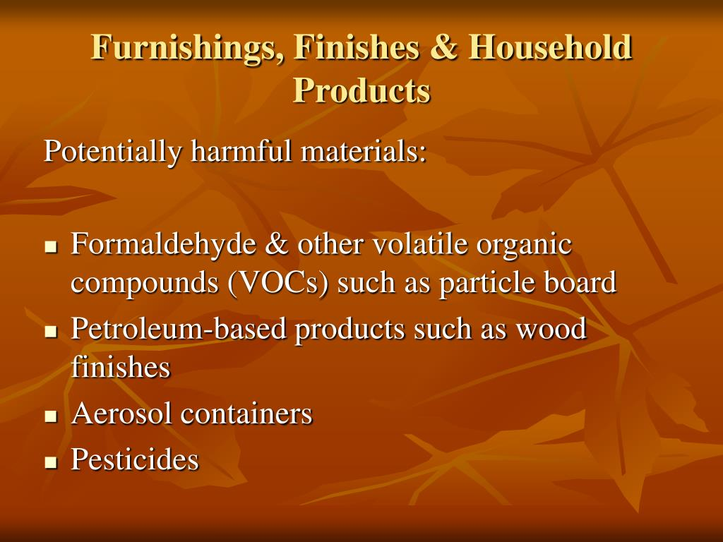 Furnishings, Finishes & Household Products