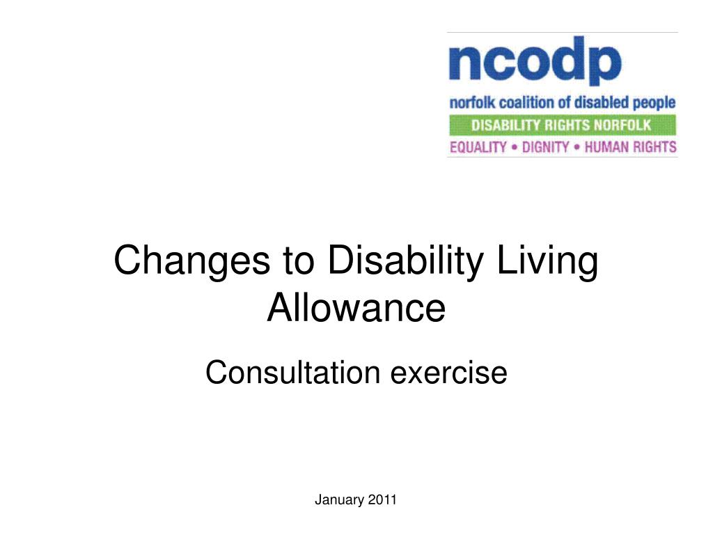 changes to disability living allowance l.