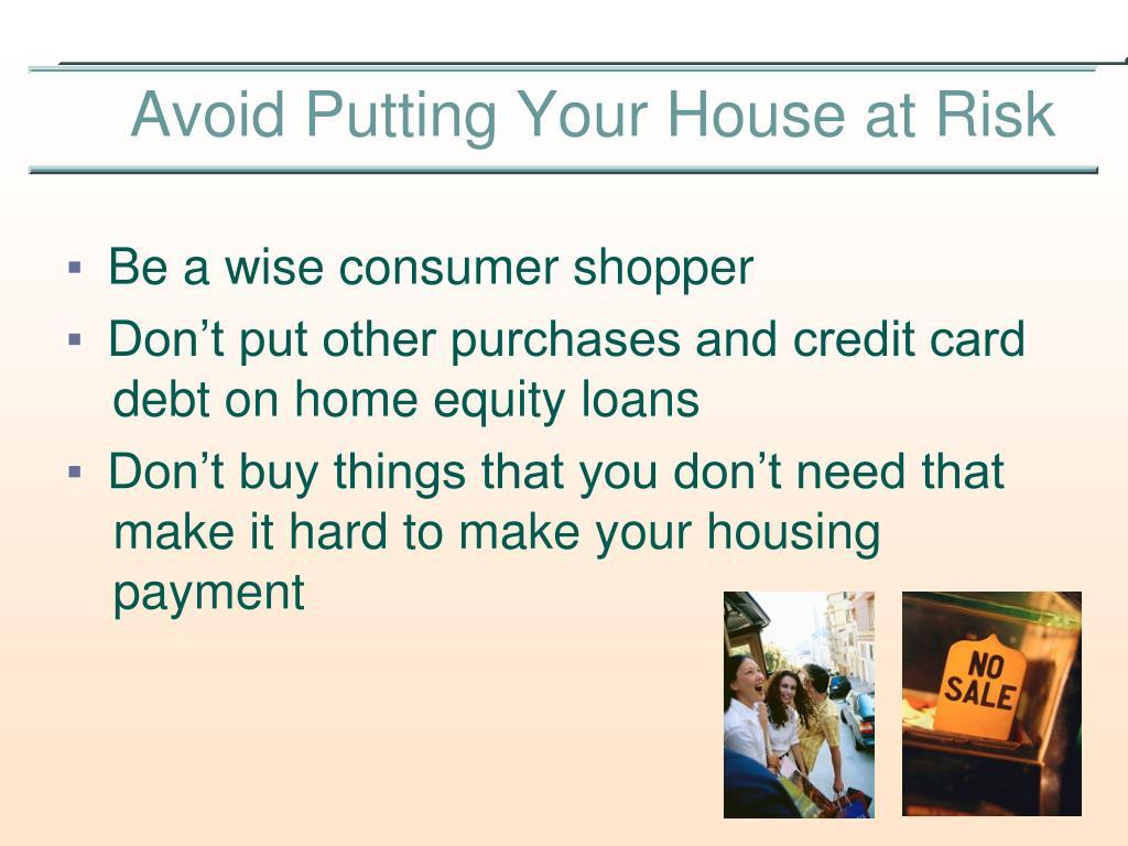 Be a wise consumer shopper