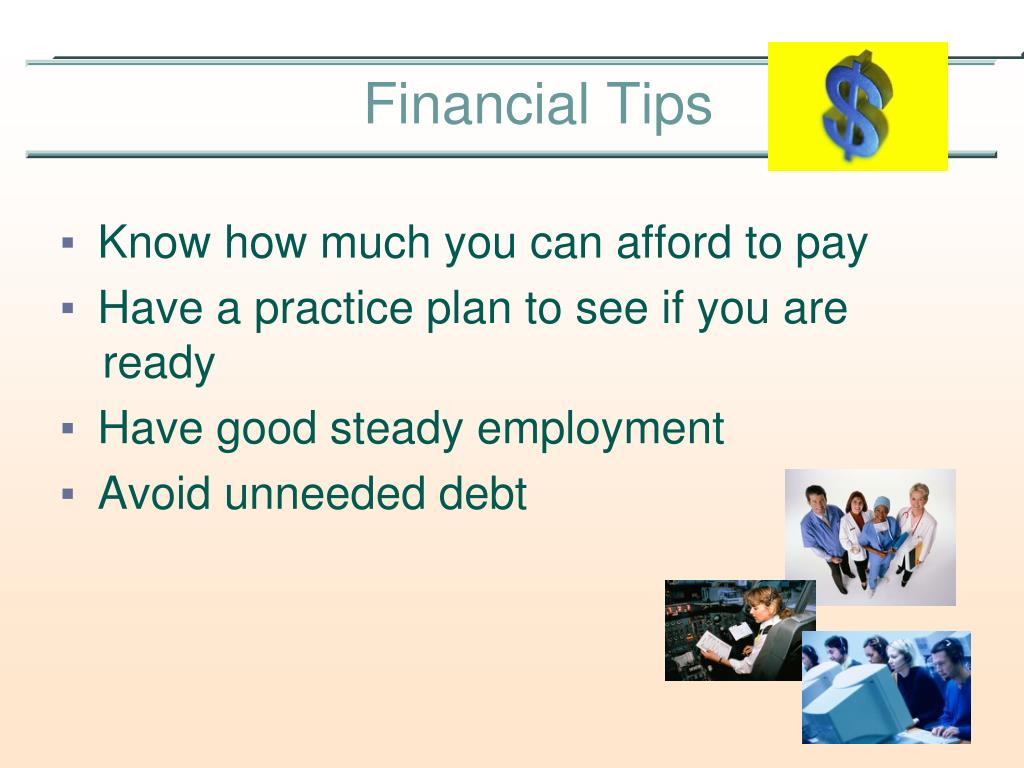 Know how much you can afford to pay