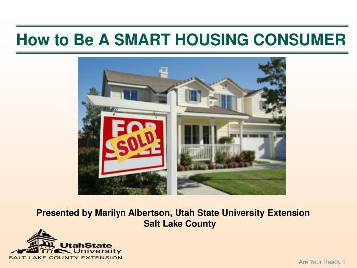 How to be a smart housing consumer