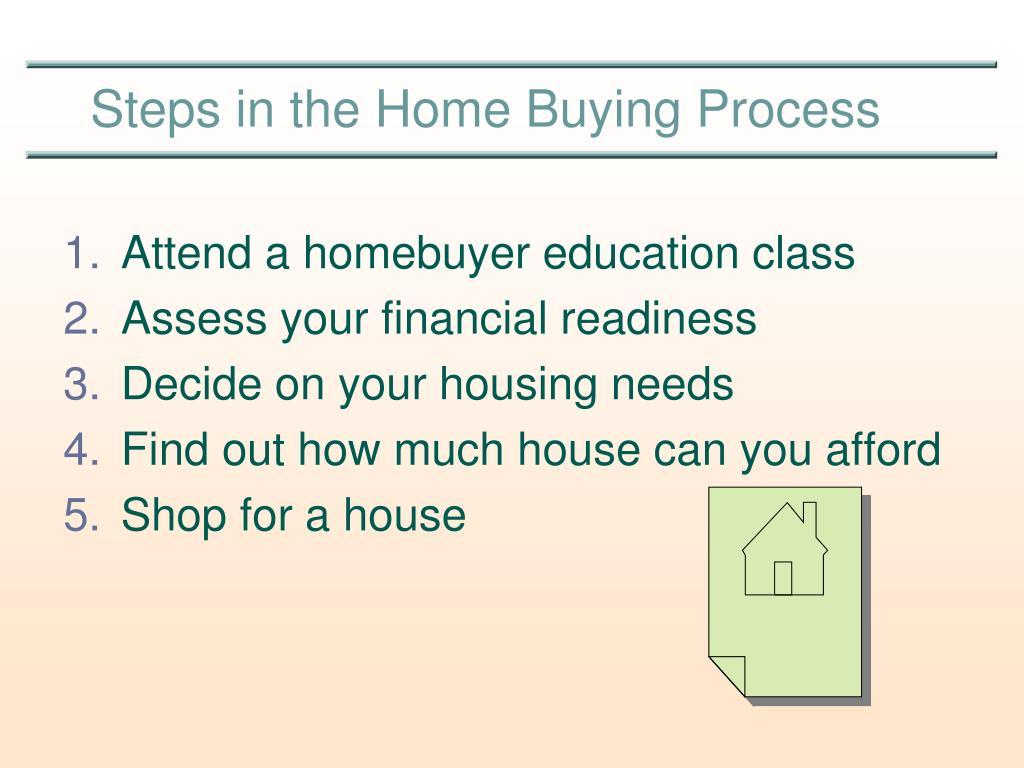 Attend a homebuyer education class