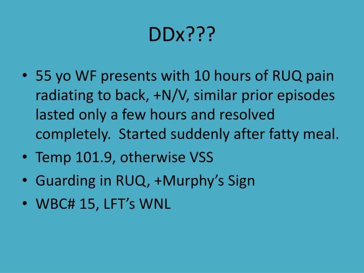 DDx???
