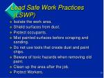 lead safe work practices lswp