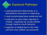 major exposure pathways