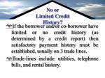 no or limited credit history