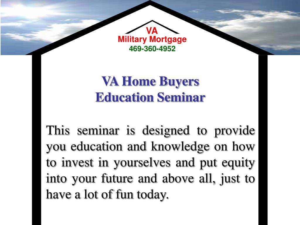 va home buyers education seminar