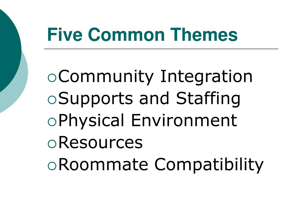 Five Common Themes