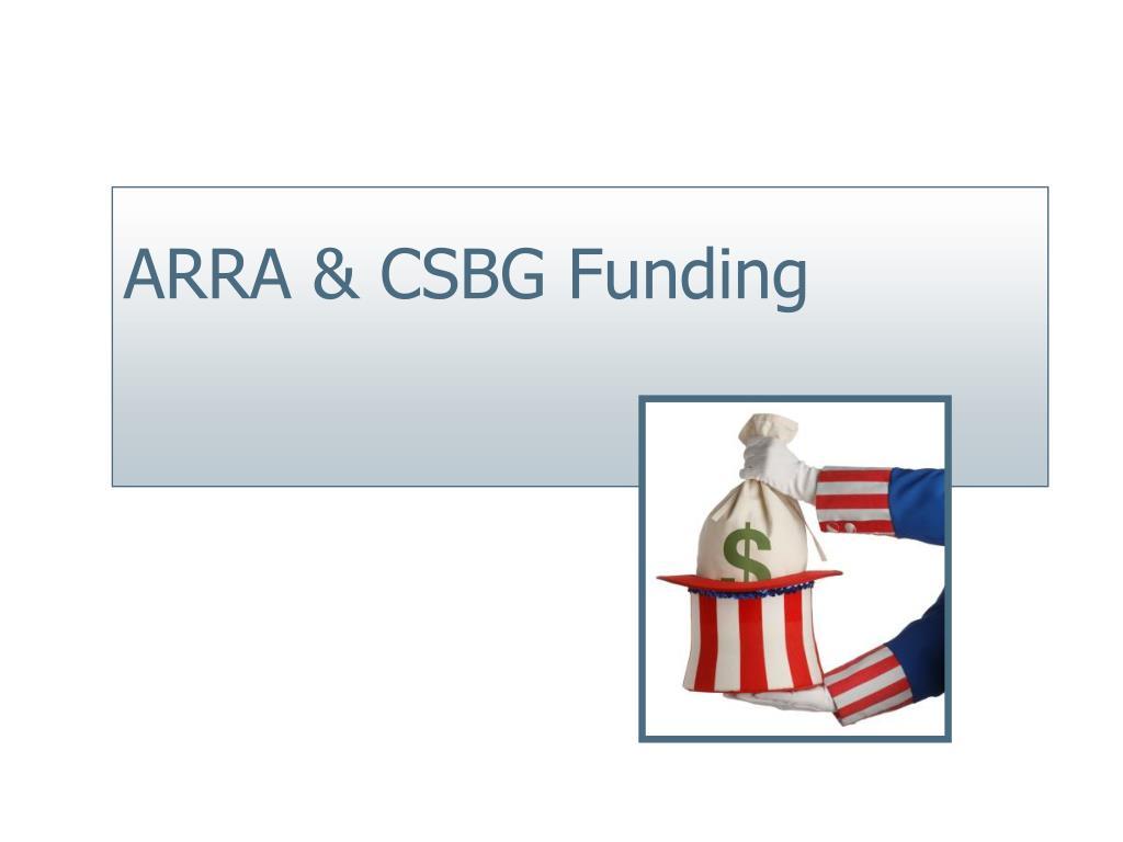 ARRA & CSBG Funding