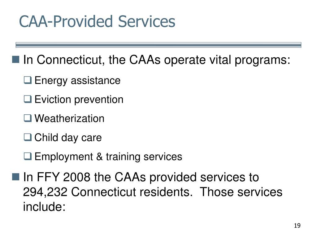 CAA-Provided Services