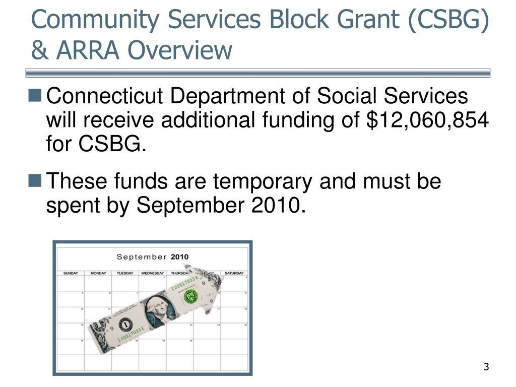Community Services Block Grant (CSBG) & ARRA Overview