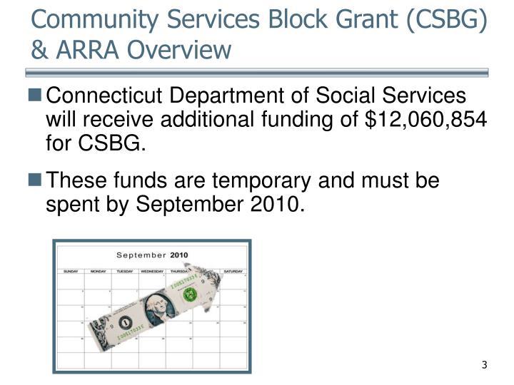 Community services block grant csbg arra overview