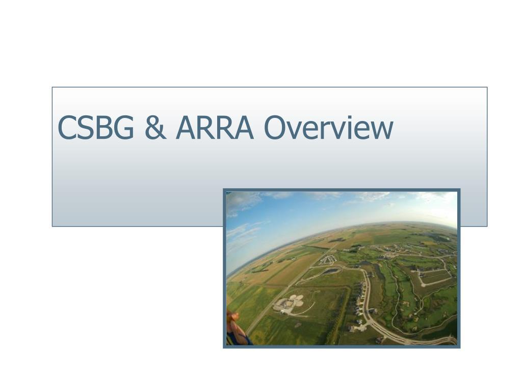 CSBG & ARRA Overview