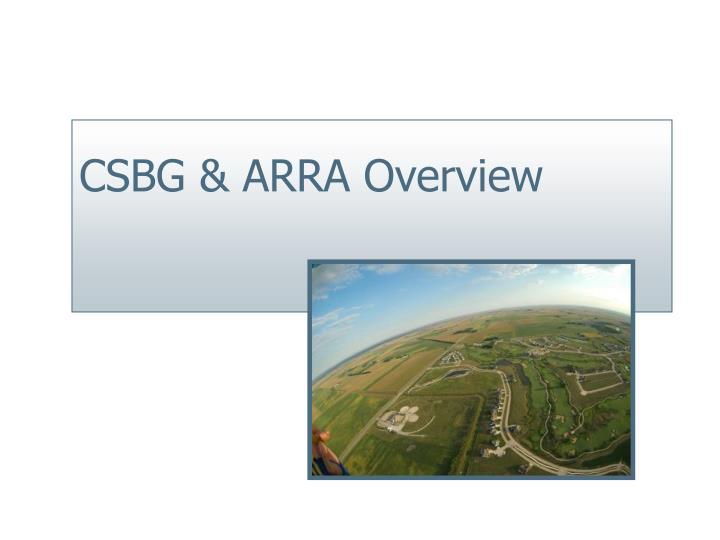 Csbg arra overview