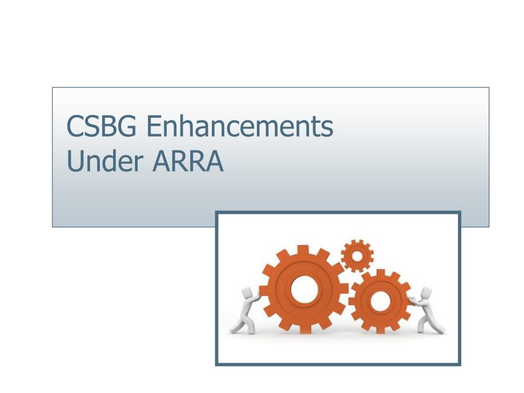 CSBG Enhancements Under ARRA