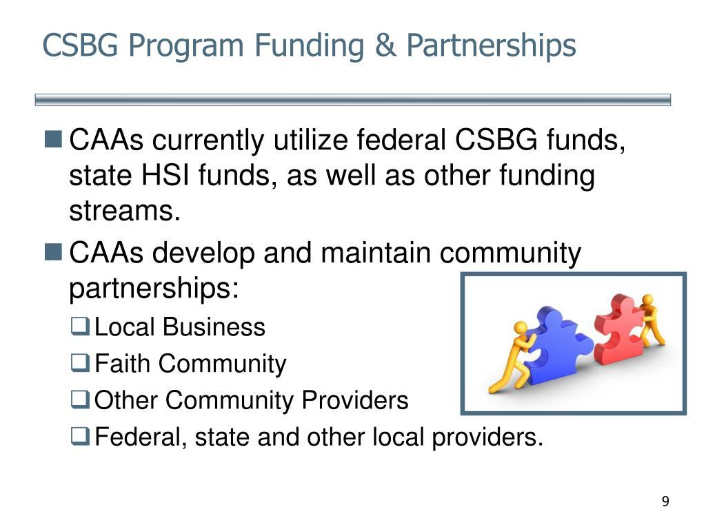CSBG Program Funding & Partnerships