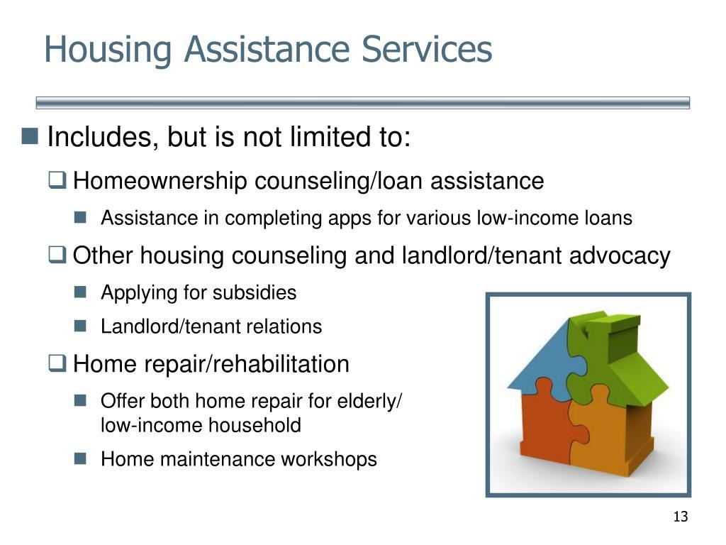 Housing Assistance Services