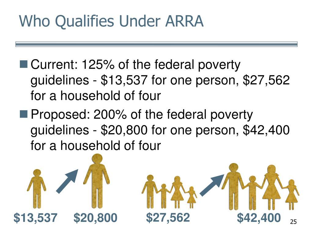 Who Qualifies Under ARRA
