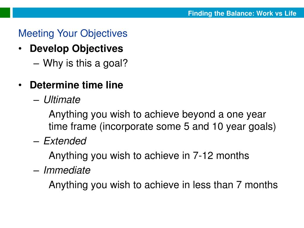 Develop Objectives