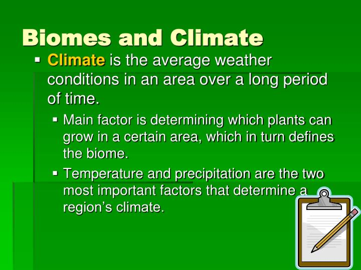 Biomes and Climate