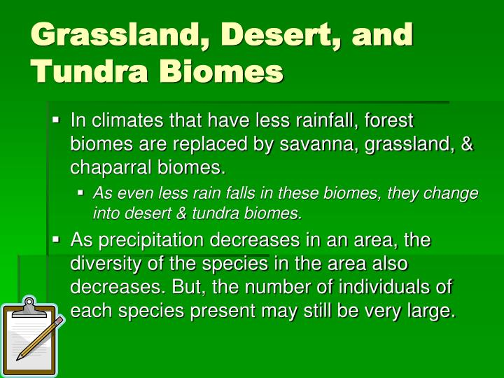 Grassland, Desert, and Tundra Biomes