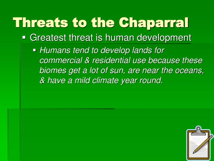 Threats to the Chaparral