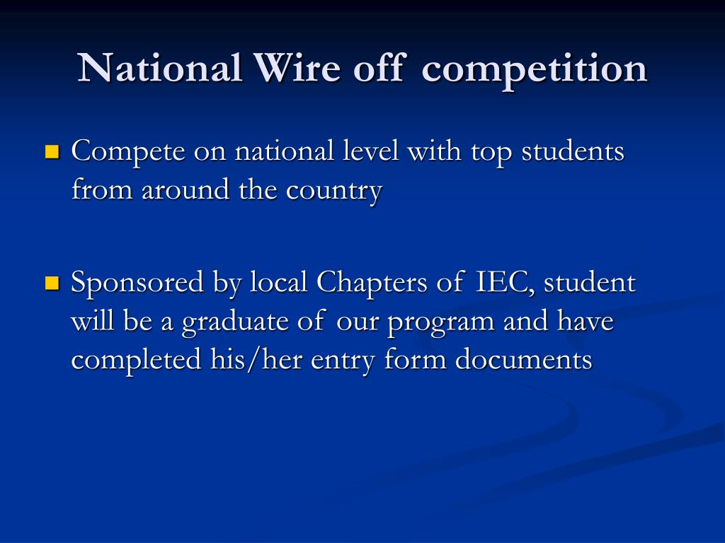 National Wire off competition