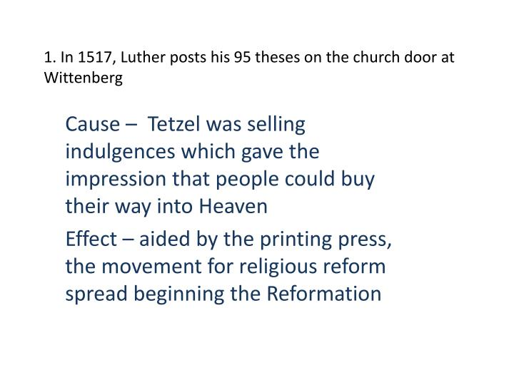 what impact did the 95 theses have