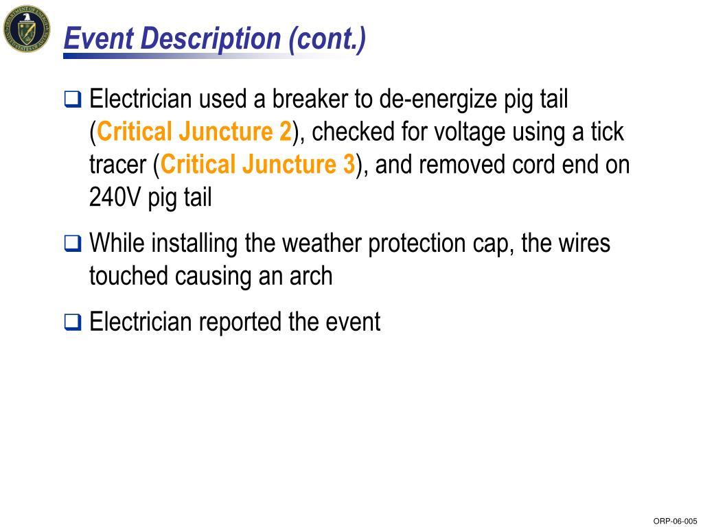 Event Description (cont.)