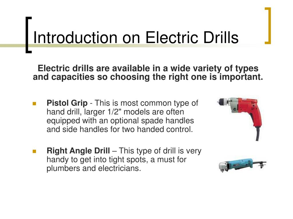 Introduction on Electric Drills
