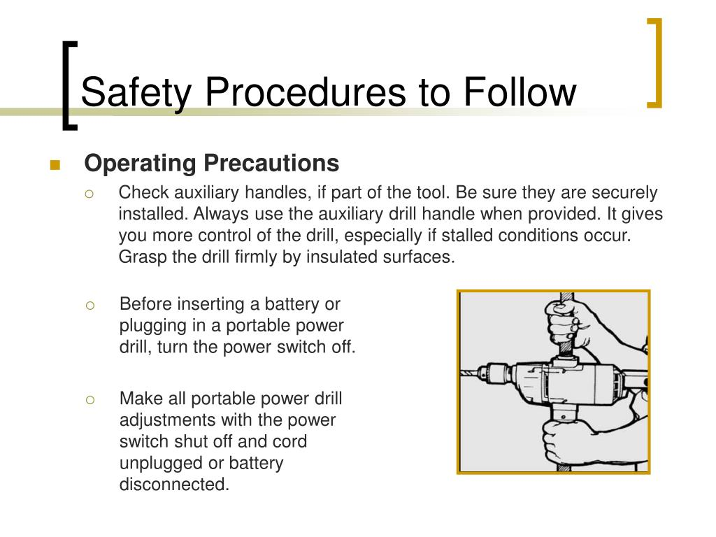 Safety Procedures to Follow