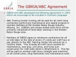 the gbria abc agreement