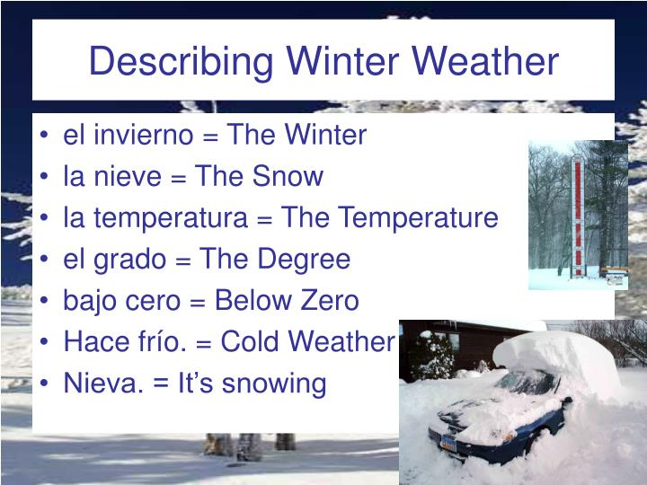 describe a winter scene essay In order to effectively describe a winter day to your audience, your description must do the following: present a clear, detailed impression of the events occurring on such a day.