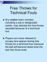 free throws for technical fouls