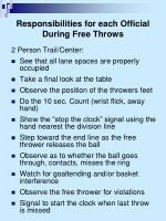 responsibilities for each official during free throws1