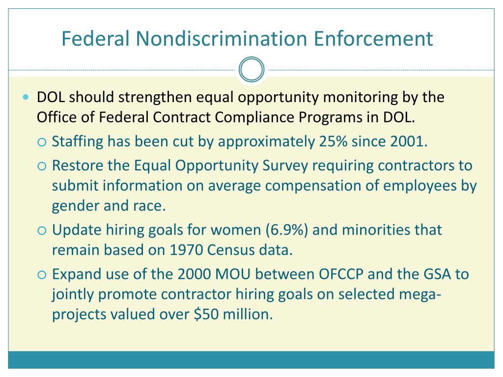 Federal Nondiscrimination Enforcement