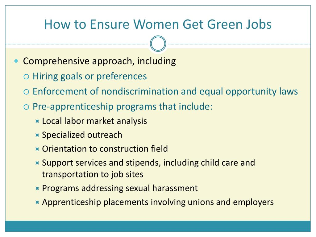 How to Ensure Women Get Green Jobs
