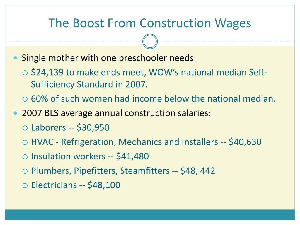 The Boost From Construction Wages
