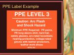 ppe label example
