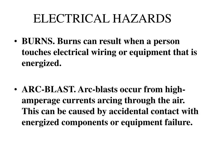 Electrical hazards3