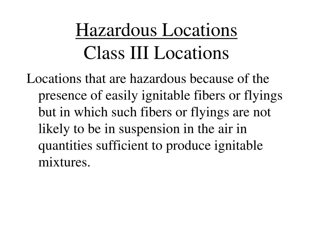 Hazardous Locations