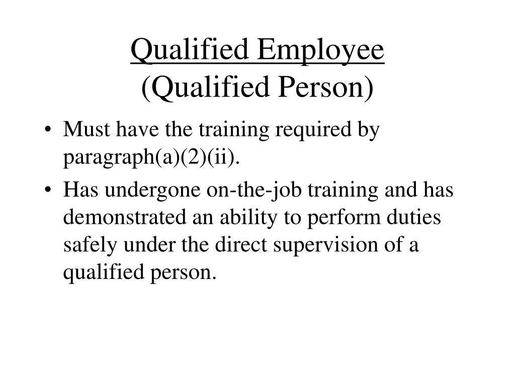 Qualified Employee