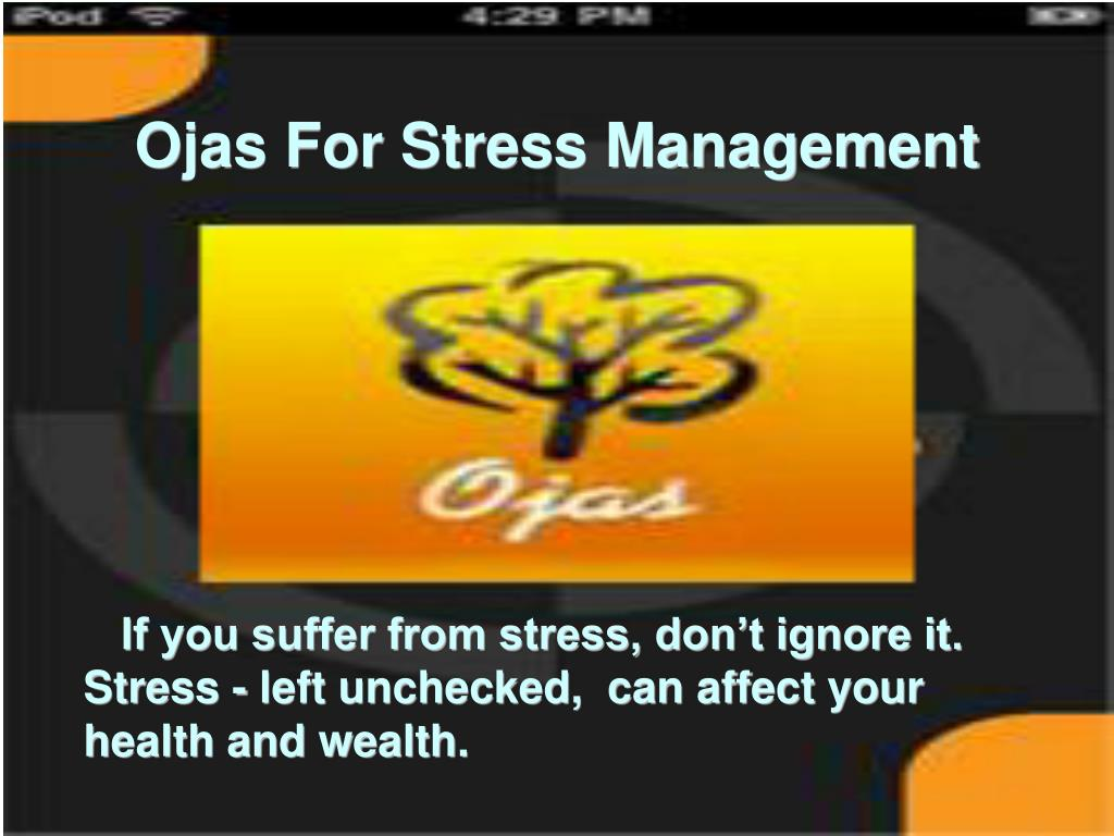 If you suffer from stress, don't ignore it.  Stress - left unchecked,  can affect your health and wealth.