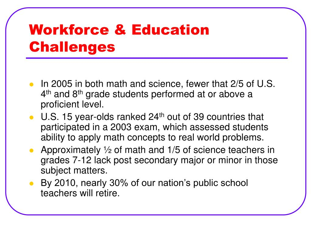 Workforce & Education Challenges