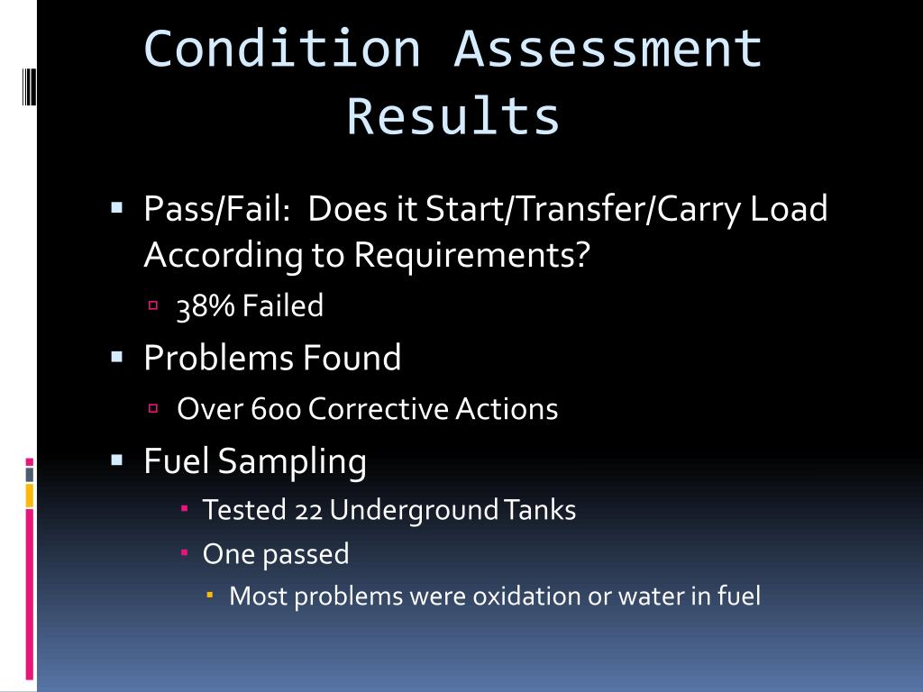 Condition Assessment Results