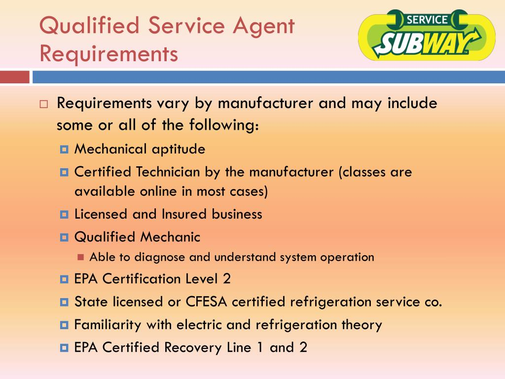 Qualified Service Agent